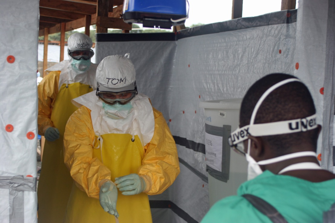 CDC Director Tom Frieden in West Africa during the Ebola epidemic.