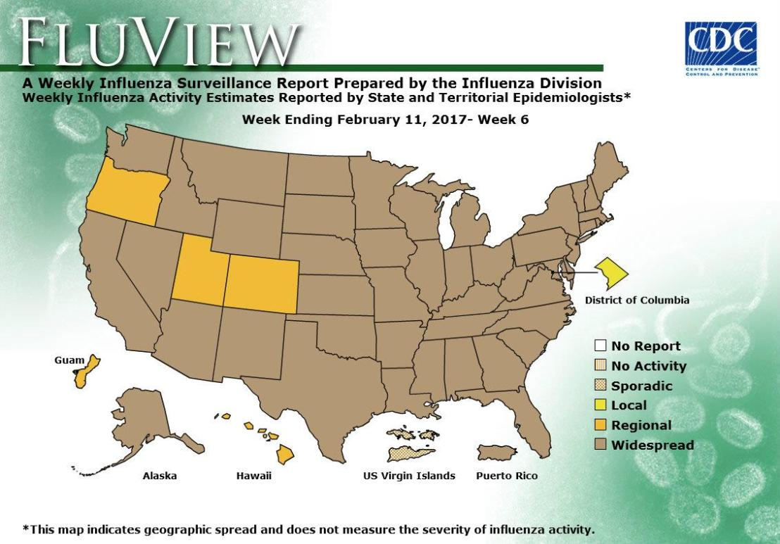 Flu activity is increasing across the United States.
