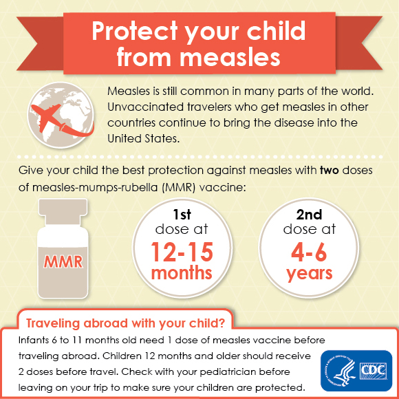 Get vaccinated. Measles is just a plane ride away.