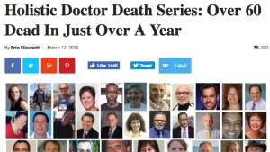 Folks continue to push the conspiracy theory that there is a connection between the deaths of holistic doctors.