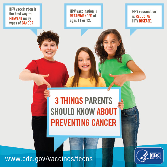 HPV vaccines prevent cancer