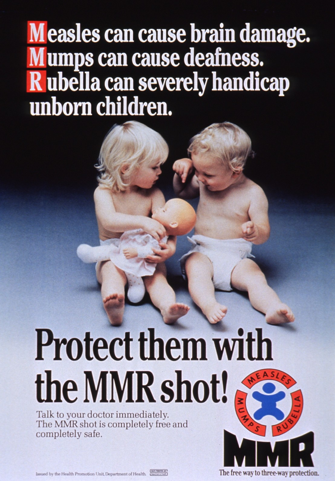 MMR Shot - three way protection.