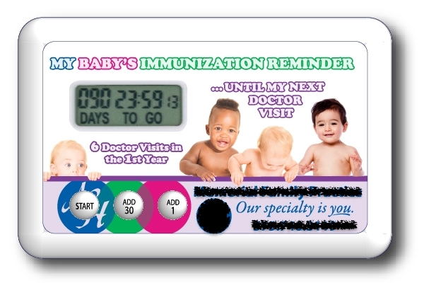 A very clever immunization reminder system for parents.