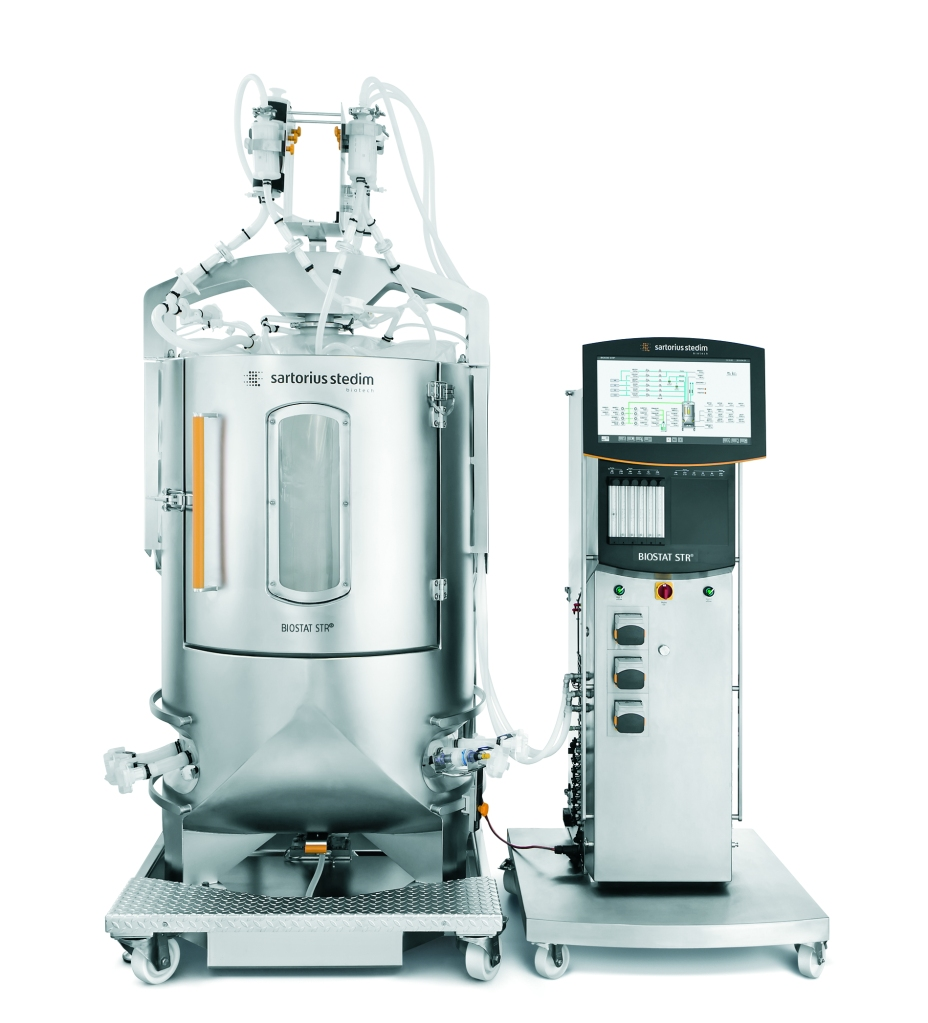 Do you picture a series of these large scale, stainless steel bioreactors when you think about how vaccines are made?