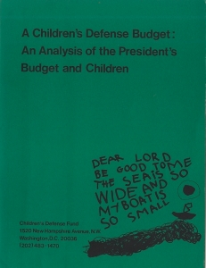 The Children's Defense Budget analysis details how Reagan proposed cutting $2 to $3 million a year from the immunization program beginning with his 1982 budget.