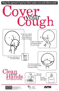 Cover your coughs and sneezes so you don't spread the flu virus to other people.