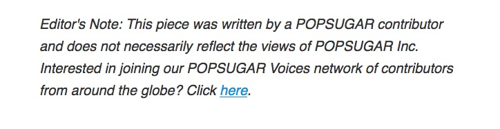 Got something you want published online? Head over to POPSUGAR...