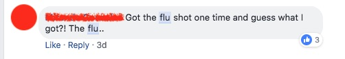 Some people still think that getting a flu shot will cause them to have the flu.