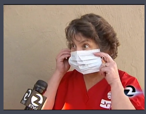 Some nurses and doctors are refusing to get a flu shot and have to wear masks at work.