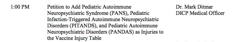 The Advisory Commission on Childhood Vaccines recently voted against adding PANDAS as a vaccine table injury.