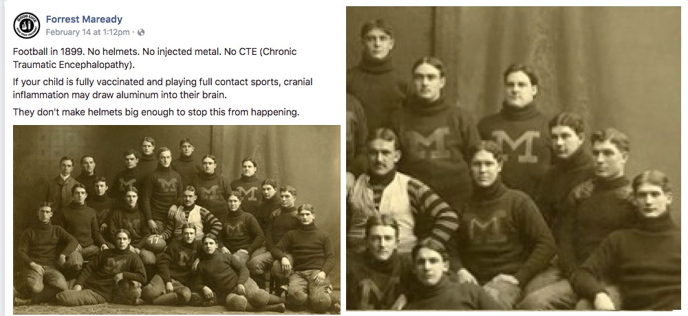 Doesn't it look like many of these football players from 1899 had crooked faces?