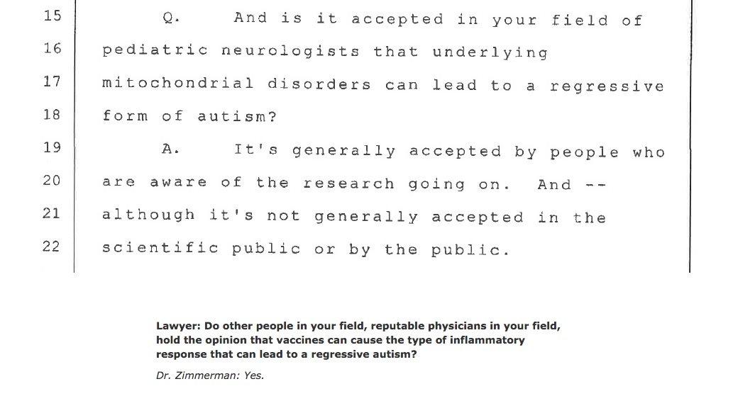 Different answers to a very similar question? They are from different lawyers in the Zimmerman deposition...