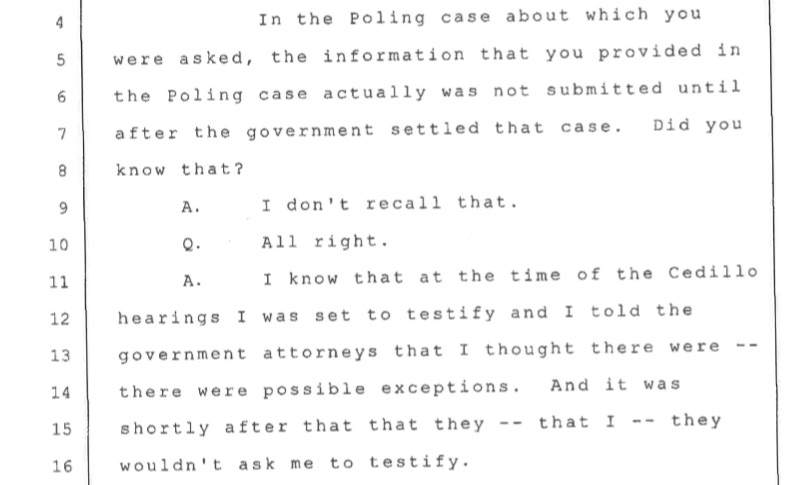 Zimmerman deposition on Hannah Poling.