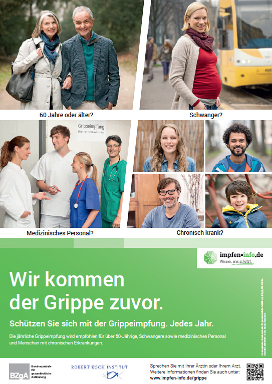 People come before the flu in Germany. Get your flu vaccine each year.
